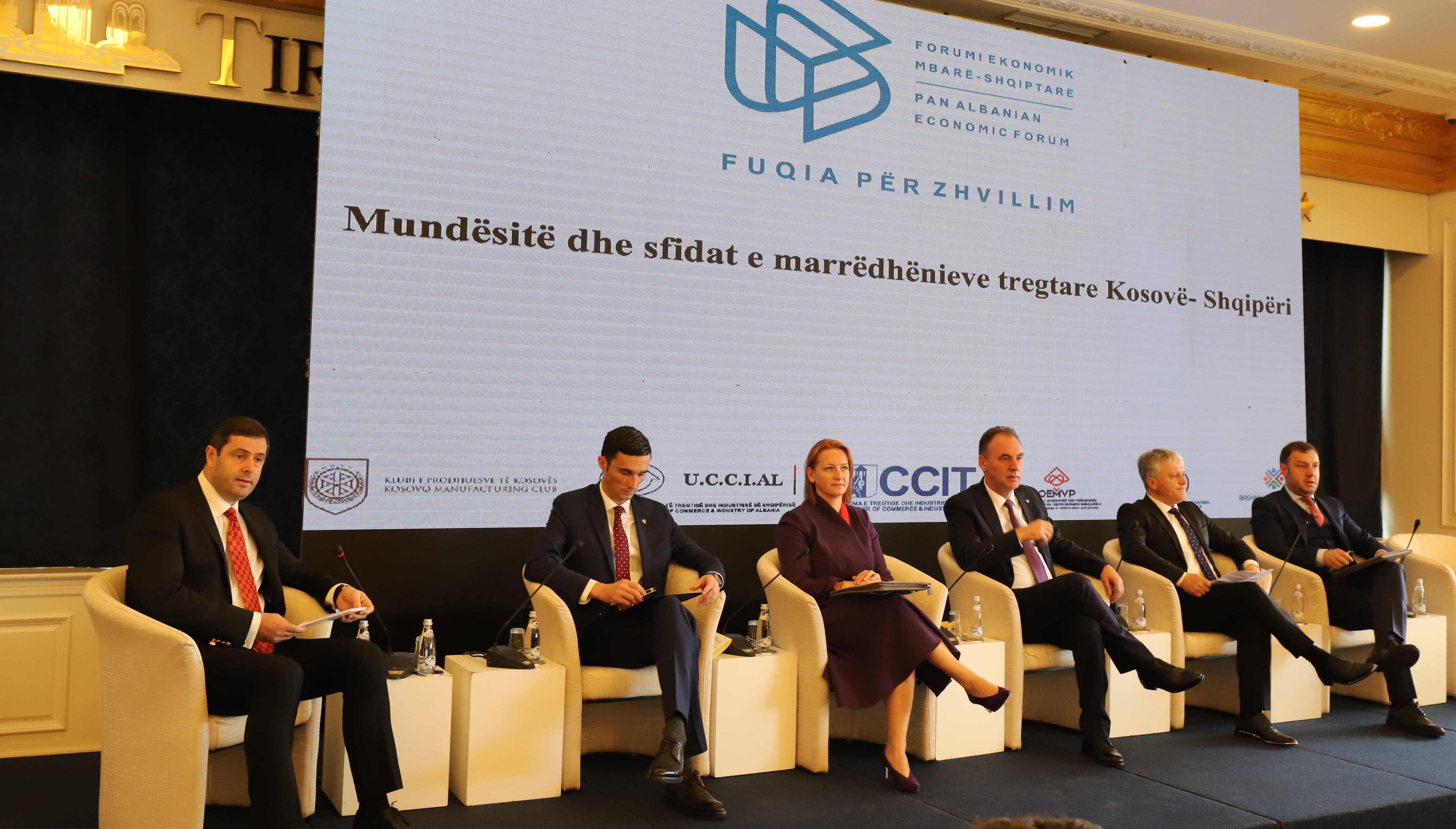 Marrëdhëniet tregtare Shqipëri-Kosovë, zhvillohet në Tiranë Forumi Ekonomik Mbarë-Shqiptar