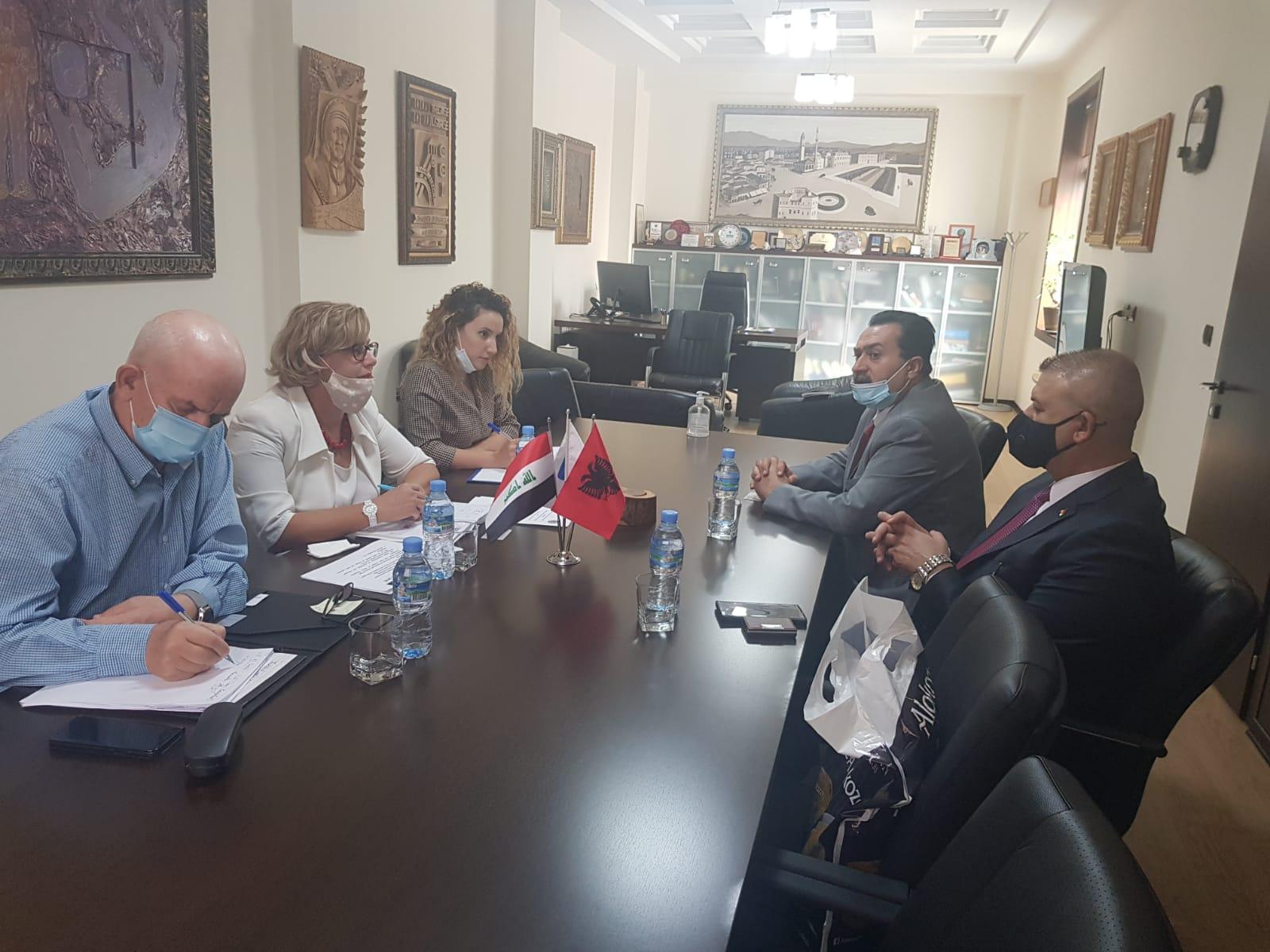 Drejtuesit e Dhomës së Tregtisë dhe Industrisë Tiranë presin përfaqësuesit e Dhomës së Tregtisë së Bagdadit