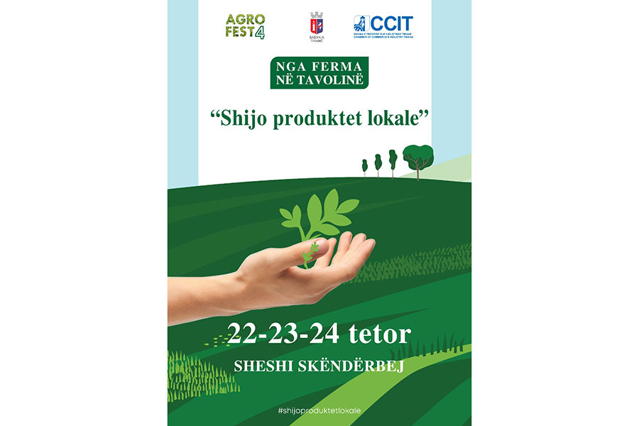 """""""Shijo Produktet Lokale"""" vjen në Tiranë nga DHTIT dhe Bashkia Tiranë në datat 22-23-24 Tetor 2021"""